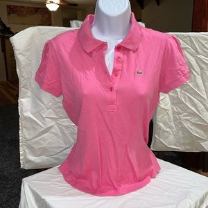 Flawless pink Lacoste polo